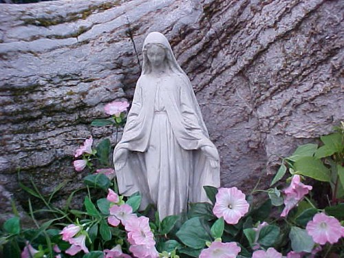 Blessed Mother in my rock garden